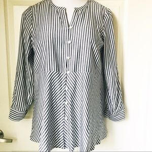 I Jill stripe blouse shirt